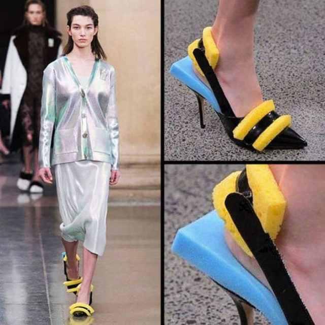 женские туфли с губками