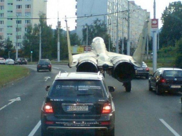 самолет на дороге