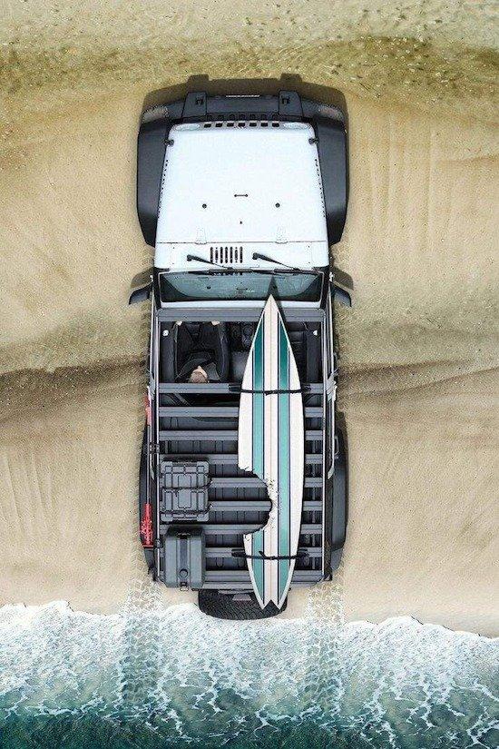 доска для серфинга с укусом