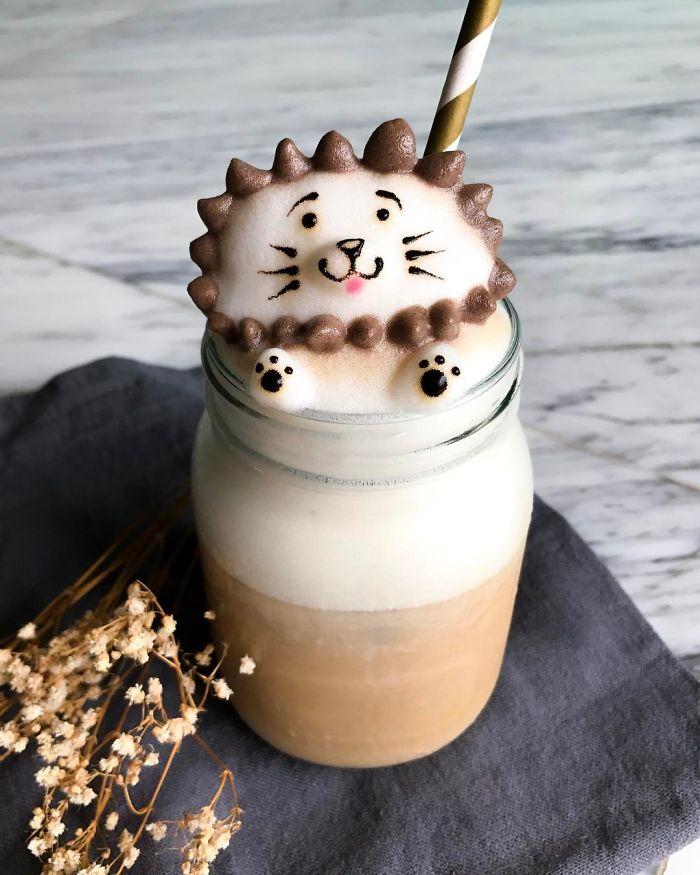 кофе с 3D-рисунком