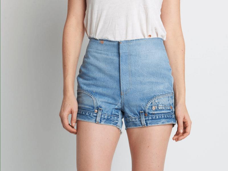 джинсовые шорты наоборот