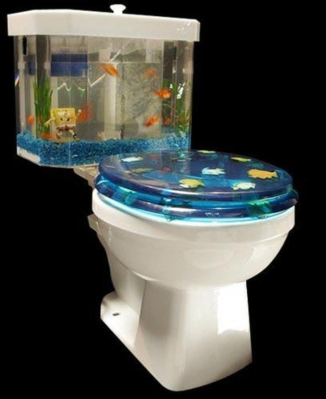 унитаз с аквариумом