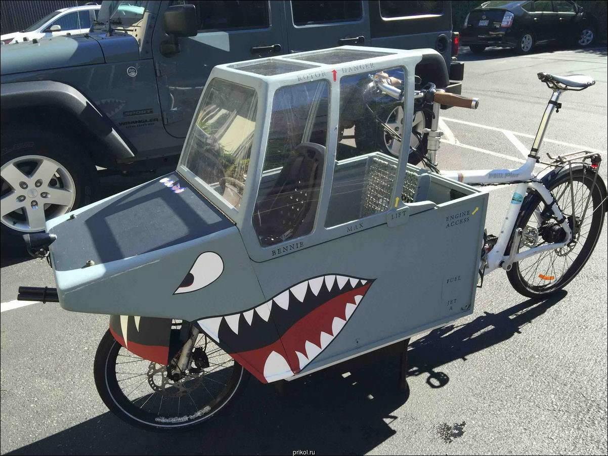 велосипед в форме акулы