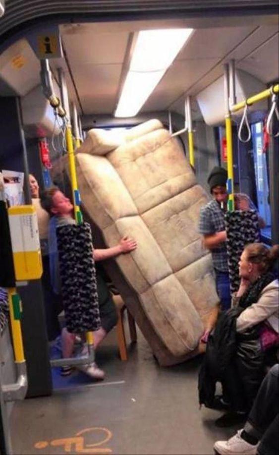 диван в метро