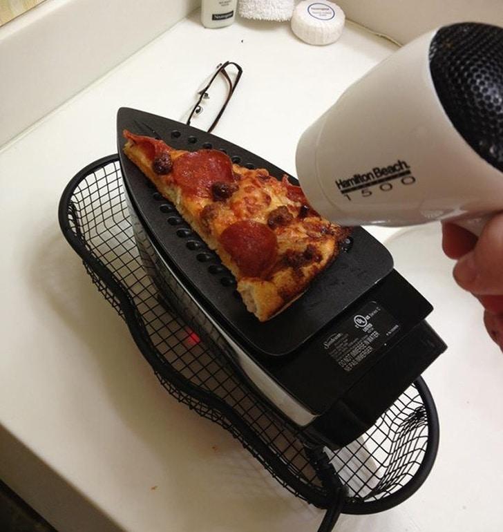 пицца на утюге