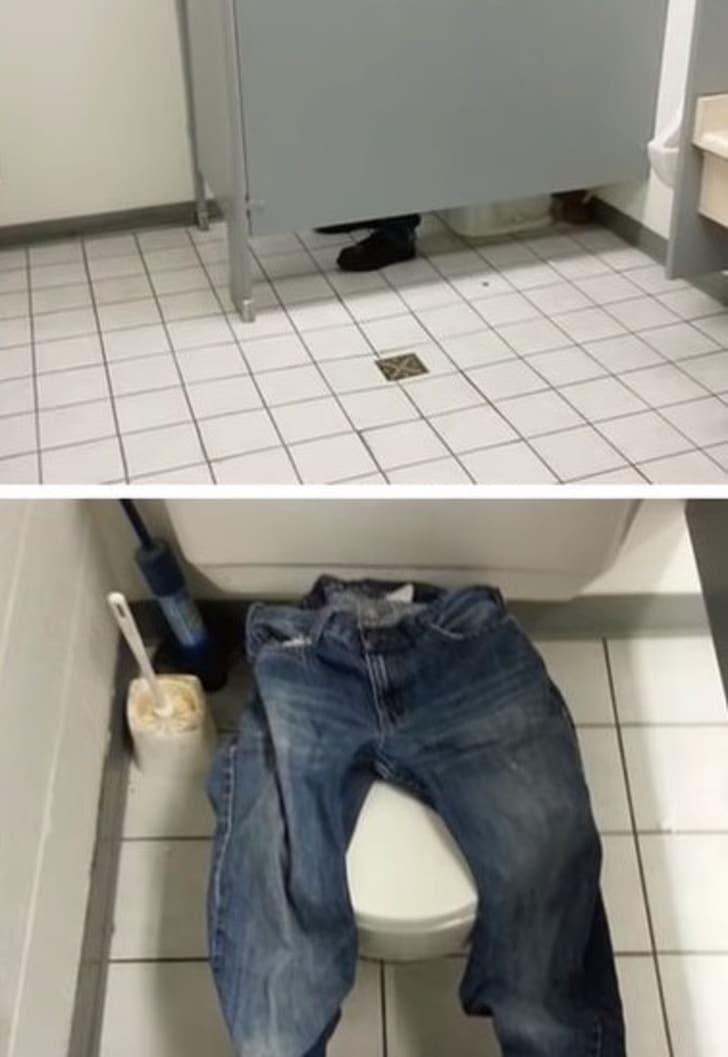шутка в туалете