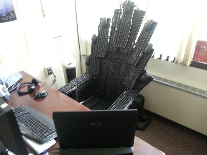 кресло из клавиатуры