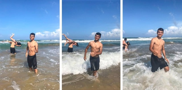 парень на море
