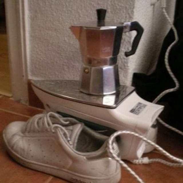 чайник на утюге