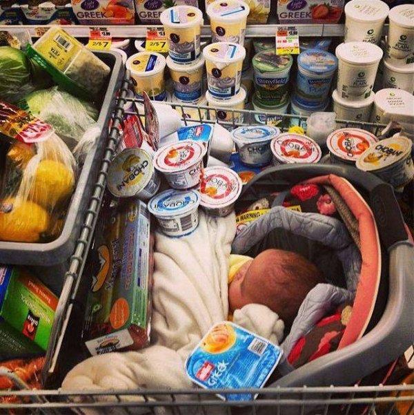 телега с продуктами