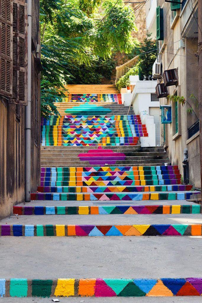 цветная лестница