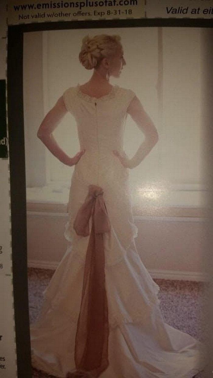 странно свадебное платье