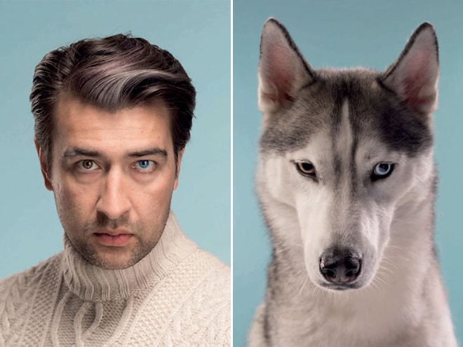мужчина и пес