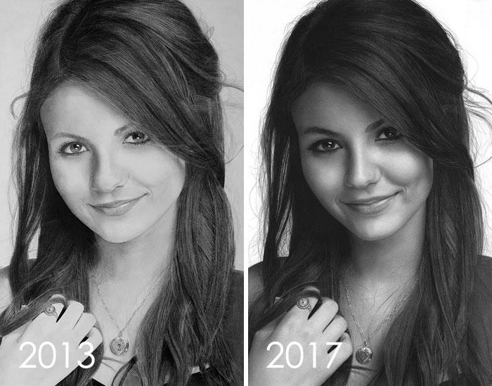 тогда и сейчас: портрет девушки рис 2