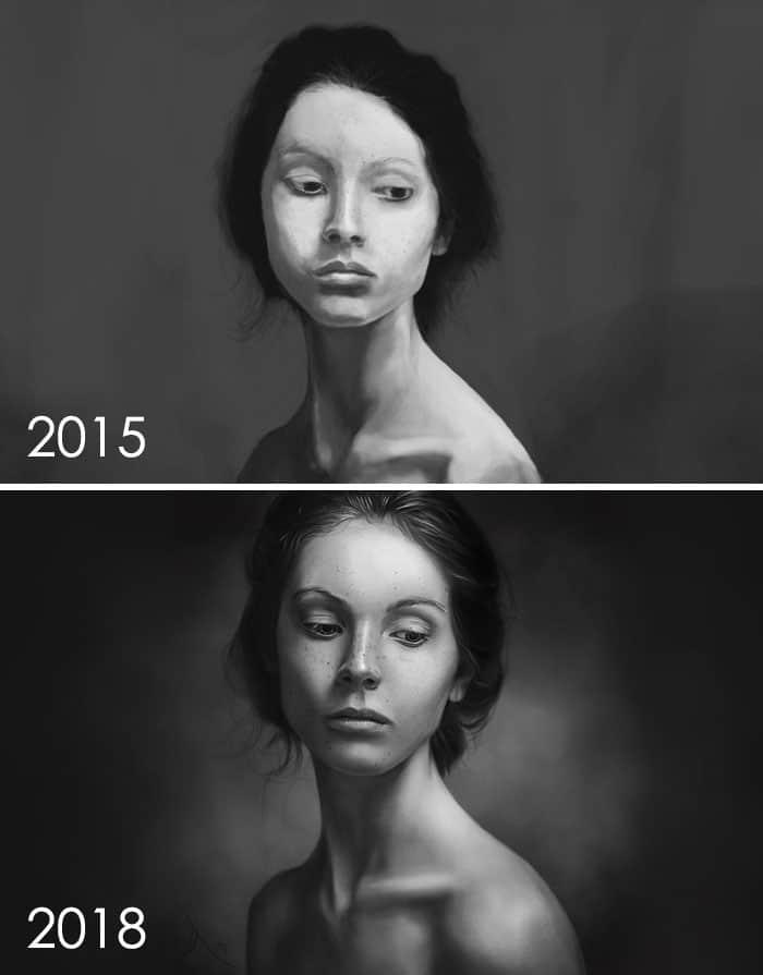 тогда и сейчас: портрет девушки