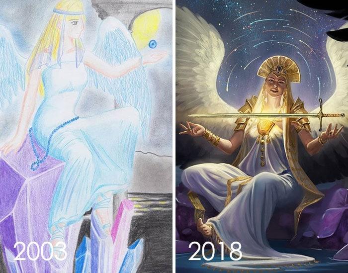 рисунок богини