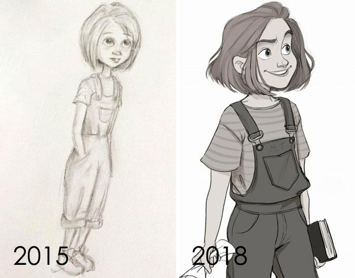 тогда и сейчас: рисунок девочки