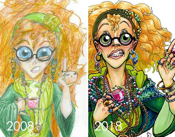 тогда и сейчас: рисунок женщины