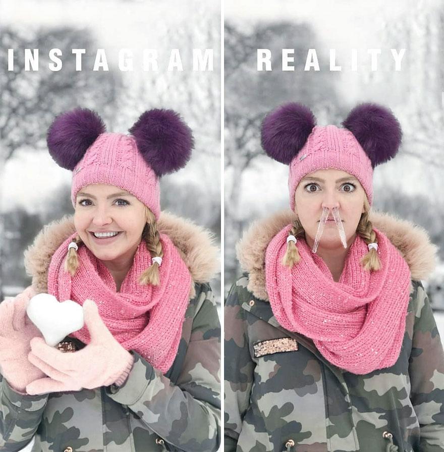 Инстаграм и жизнь: фотосессия зимой