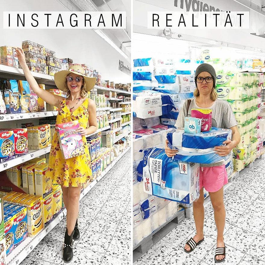 Инстаграм и жизнь: девушка в магазине