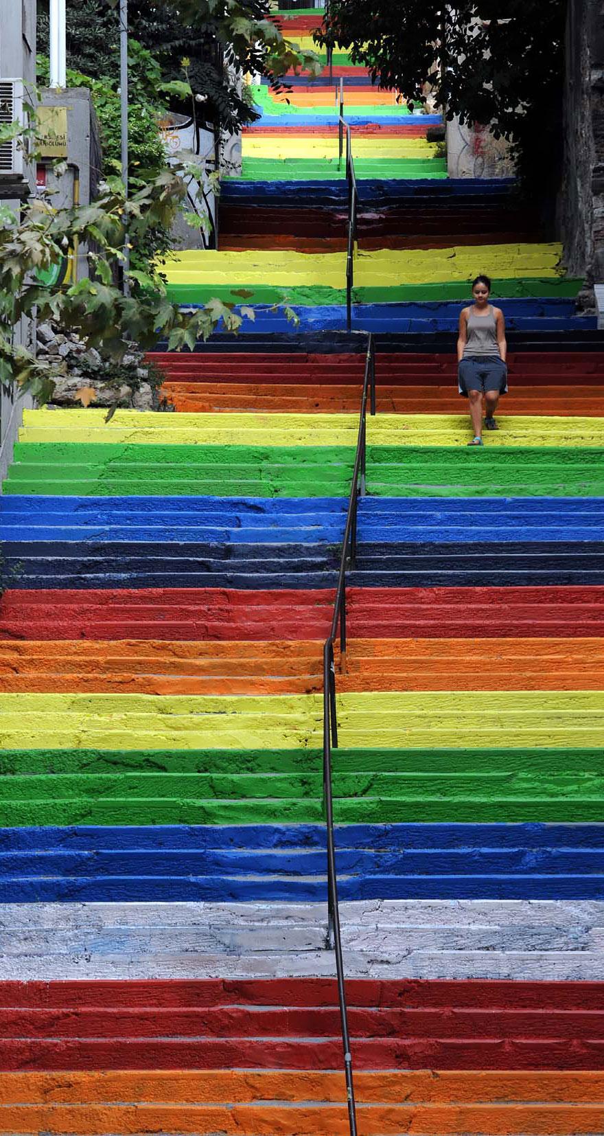 ступени цвета радуги