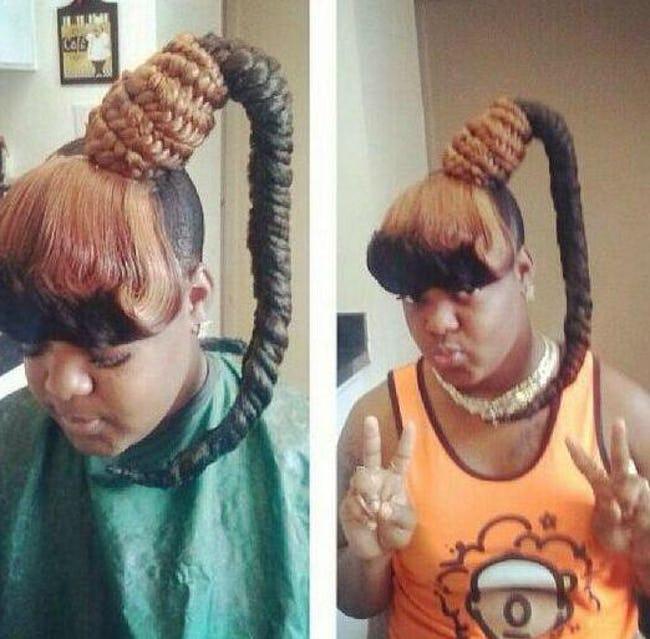 чернокожая девушка с косой