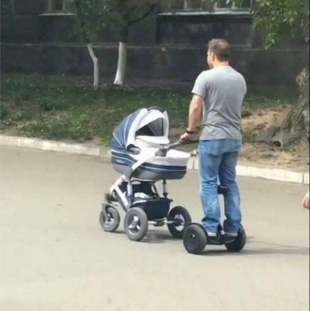 папа с коляской