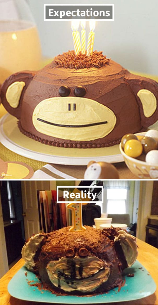 торт в виде обезьяны