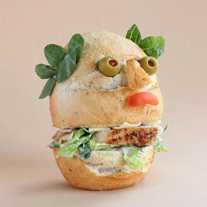 персонаж из еды