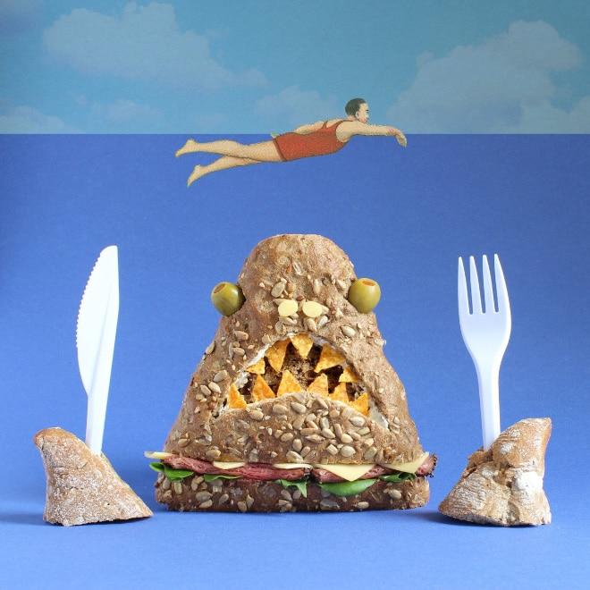 акула из еды