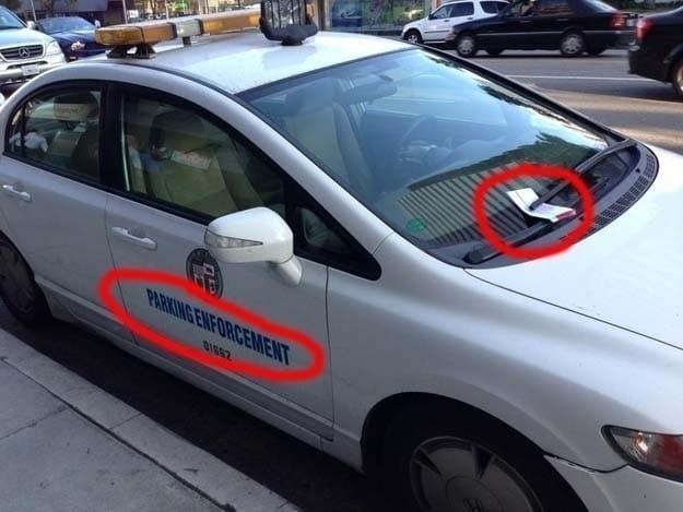 машина и штраф ща неправильную парковку