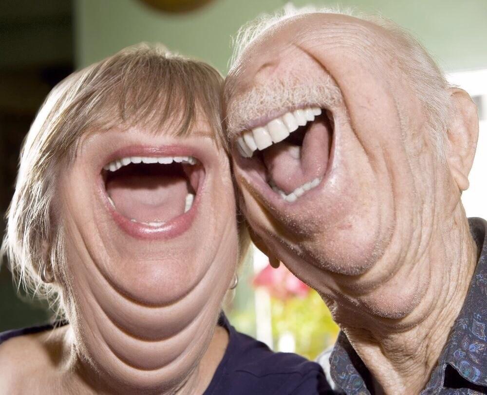 пара смеется фотошоп