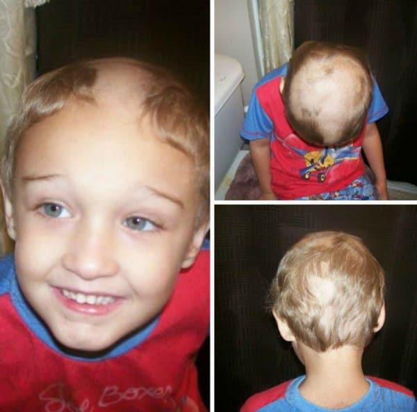 мальчик с выбритой головой рис 2