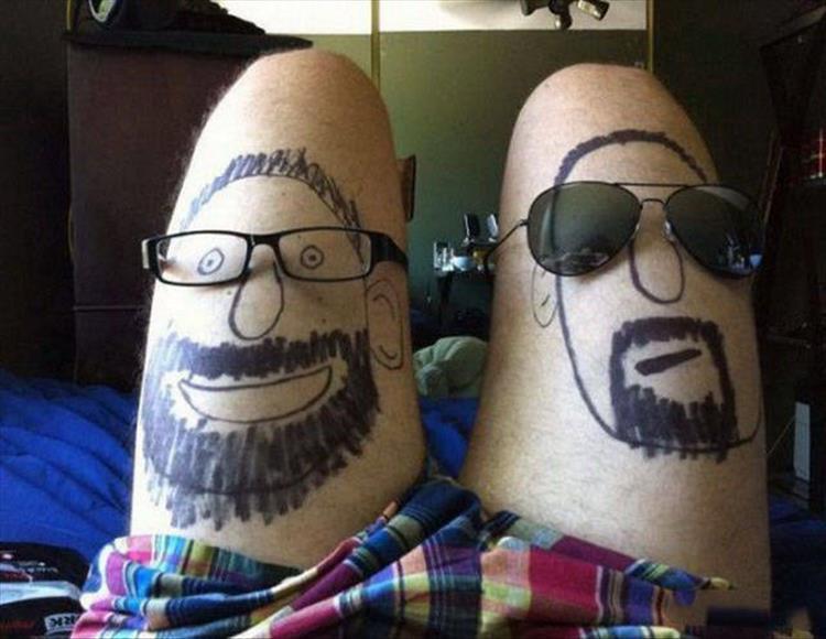 рисунки мужчин на ногах у парня
