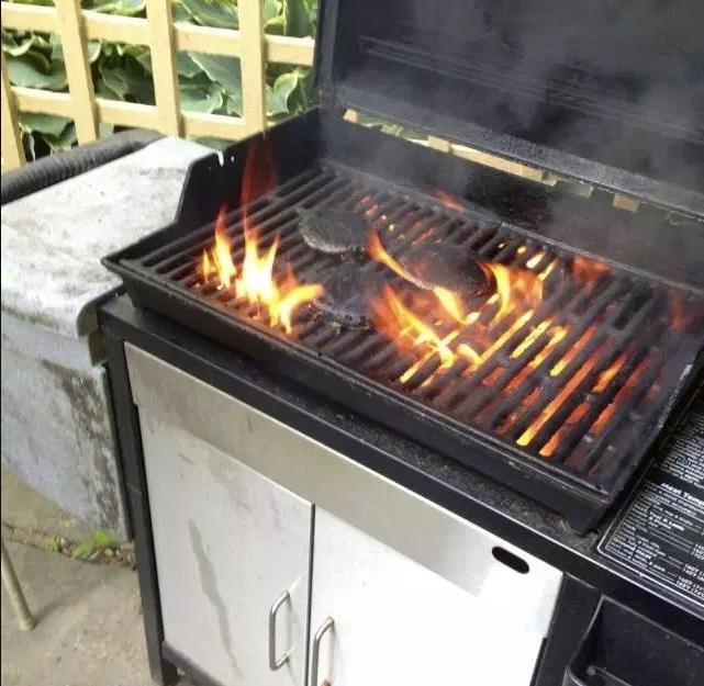 барбекю горит