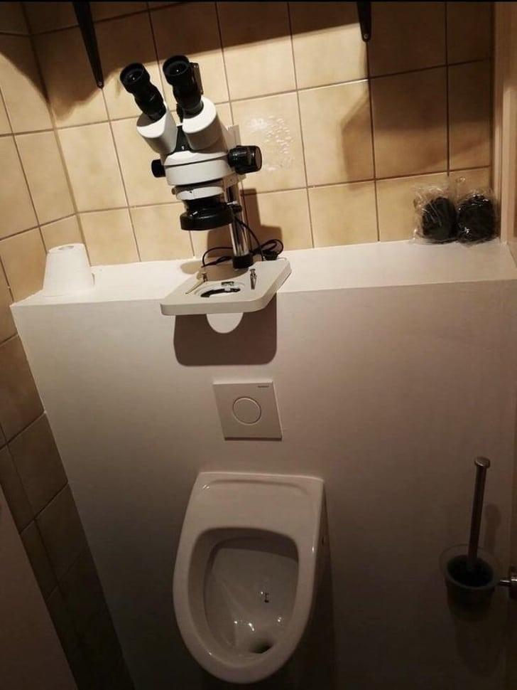 странный туалет