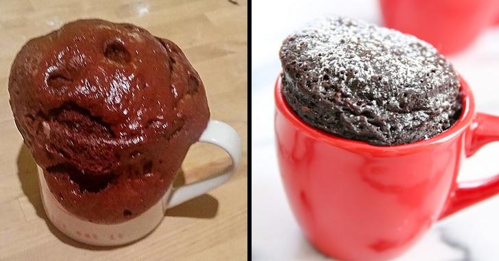 кекс в чашке