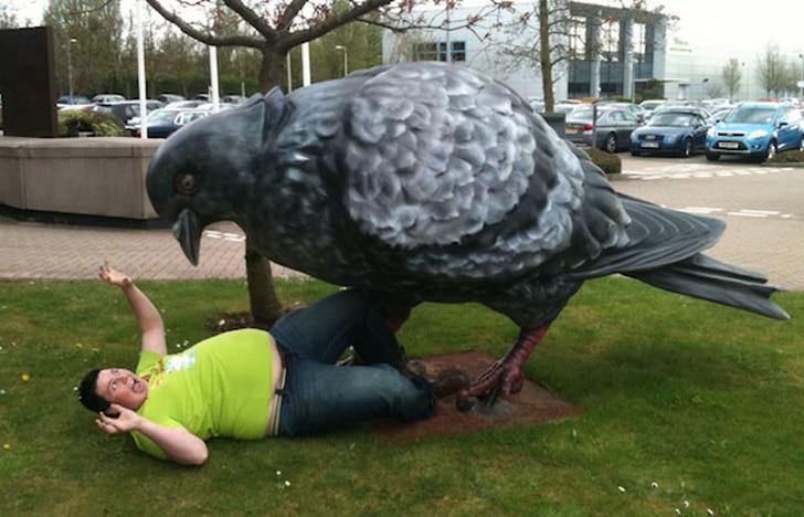 статуя голубя