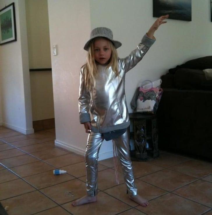 серебряный костюм