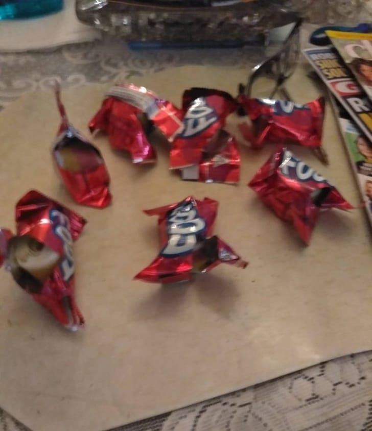 открытые конфеты