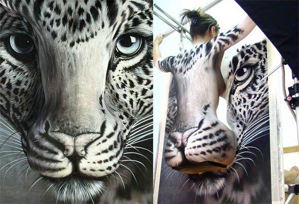 боди-арт тигр
