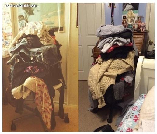 стул с вещами