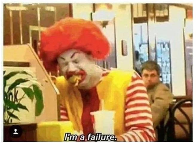 клоун в макдональдсе