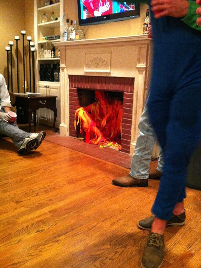 костюм огня на Хэллоуин