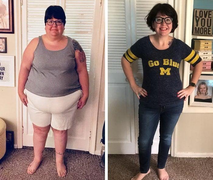 женщина полная и женщина похудела