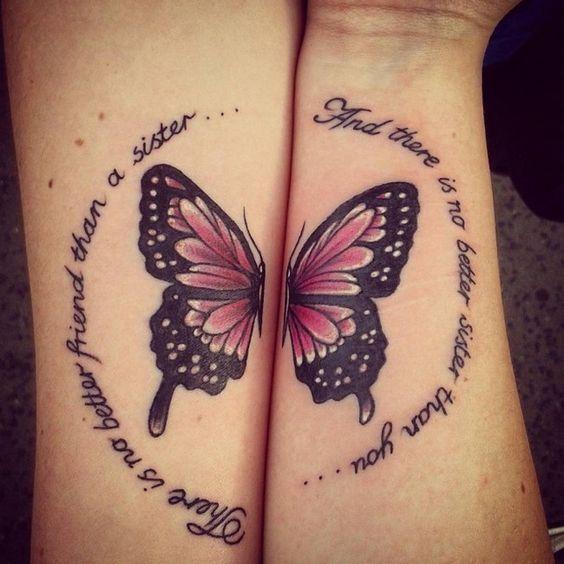 тату бабочки на руке