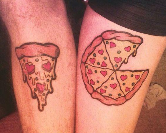 тату пиццы на руках