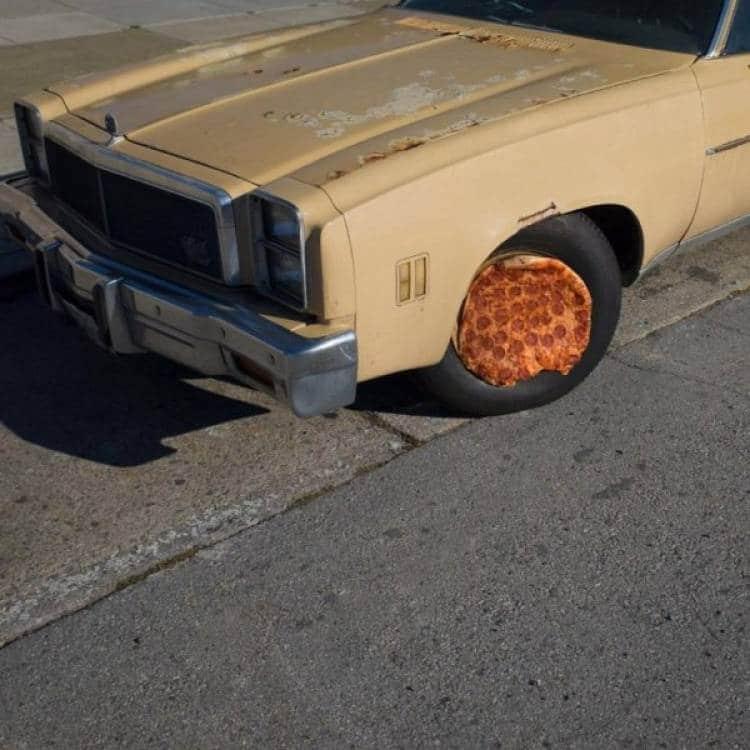пицца на колесе
