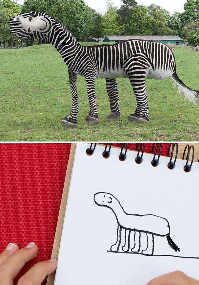 рисунок зебры
