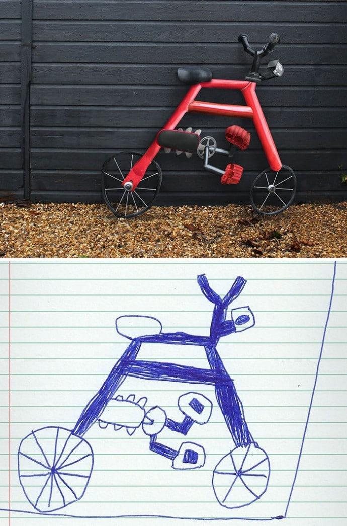 рисунок велосипеда